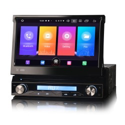 Universal 1DIN Car Stereo GPS FM CarPlay Android Auto Bluetooth USB...