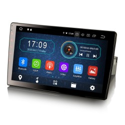 """Universal 1DIN Car Stereo 10.1"""" GPS FM Android Bluetooth USB A2DP"""